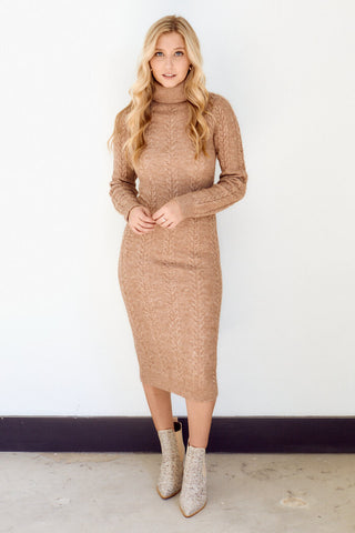 PreOrder Aneesa Cable Knit Midi Dress
