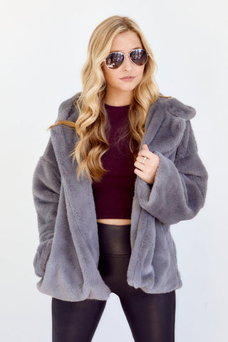 PreOrder Ania Faux Fur Hooded Jacket