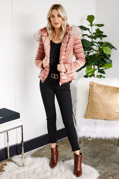 fab'rik - Holland Velvet Quilted Jacket image thumbnail