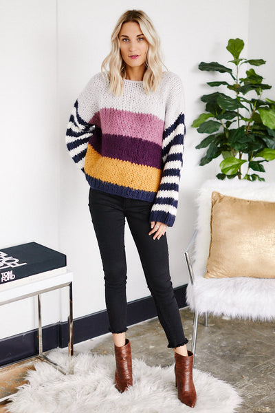 fab'rik - PreOrder Blank NYC On Point Stipe Sweater image thumbnail