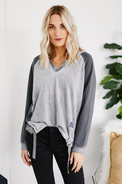fab'rik - Ollie Knit Suede Pullover image thumbnail