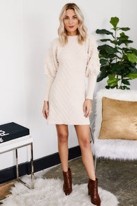 fab'rik - Nanette Puff Sleeve Sweater Dress ProductImage-13280724385850