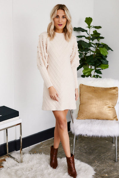 fab'rik - Nanette Puff Sleeve Sweater Dress image thumbnail