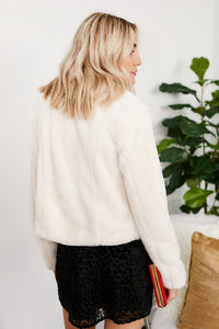 Blank NYC Atmore Cropped Faux Fur Jacket