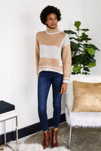 Load image into Gallery viewer, Jeni Colorblock Turtle Neck sweater
