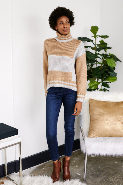 fab'rik - Jeni Colorblock Turtle Neck sweater image thumbnail
