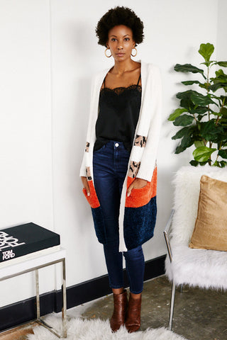 Holly Color Block Cardigan