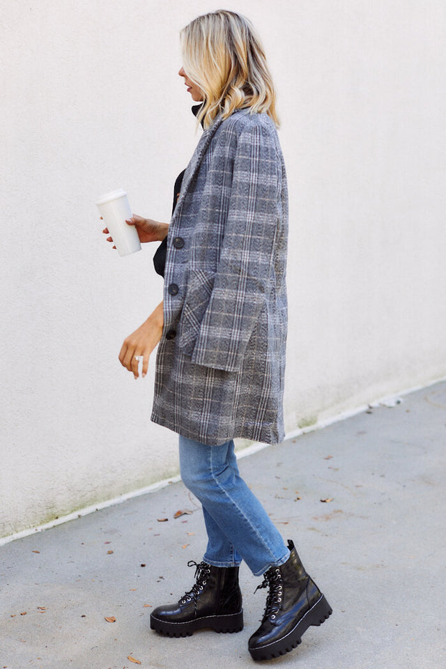 Reeves Plaid Coat