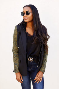 Fallon Snake Sleeve Jacket