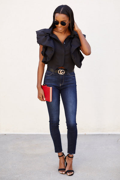fab'rik - Grier Ruffle Sleeve Top image thumbnail