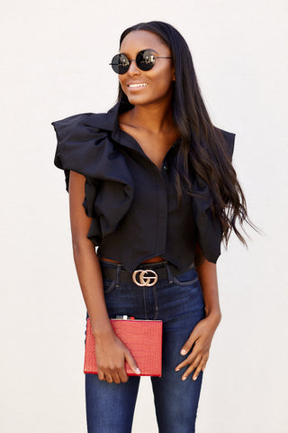 Grier Ruffle Sleeve Top