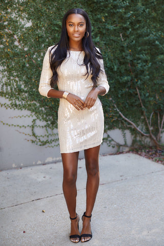 Lyra Long Sleeve Sequin Dress