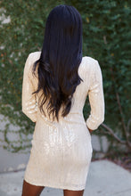 Load image into Gallery viewer, Lyra Long Sleeve Sequin Dress