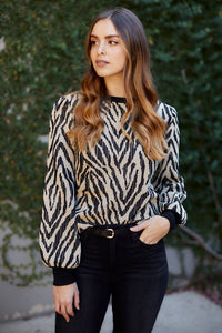 fab'rik - Lillith Animal Print Top ProductImage-13289808003130