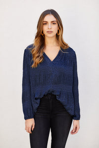 fab'rik - PreOrder Beverly Jacquard Detail Long Sleeve Blouse ProductImage-13291786207290
