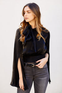PreOrder Marielle Blouse with Tie Neck