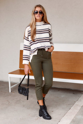 Indie Knit Stripe Sweater