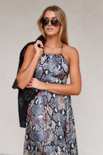 Load image into Gallery viewer, Brynn Snake Print Maxi Dress