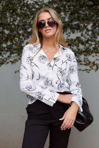 PreOrder Arielle Floral Printed Button Down Blouse