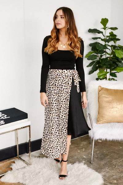 fab'rik - Calla Animal Print Wrap Skirt image thumbnail