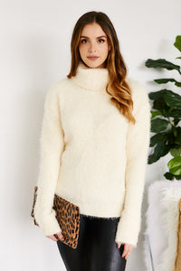 fab'rik - Elanora Eyelash Turtleneck Sweater ProductImage-13304954978362