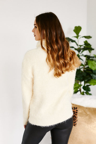 fab'rik - Elanora Eyelash Turtleneck Sweater image thumbnail