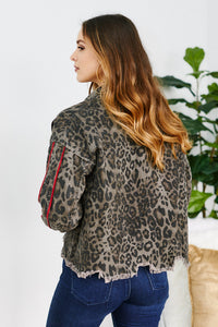 Calloway Cheetah Track Stripe Jacket