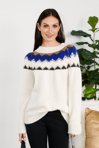 Claremont Decorative Neckline Sweater
