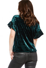 Load image into Gallery viewer, Z Supply Crushed Velour Ruffle Sleeve Tee