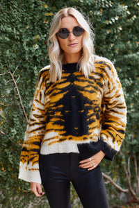 Windsor Tiger Print Sweater