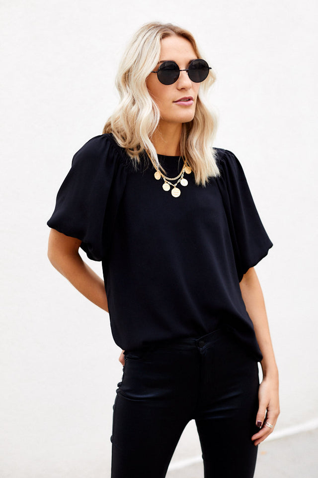 Perkins Puff Sleeve Blouse