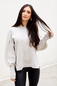 Arlo Puff Sleeve Knit Sweater