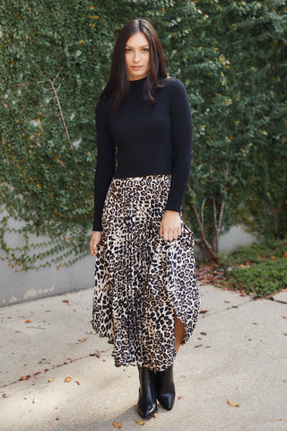Gardena Pleated Print Skirt