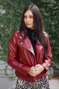 BB Dakota Moto Finish Faux Leather Jacket