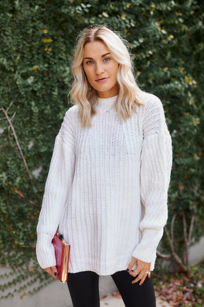 fab'rik - Lacey Cable Knit Tunic Sweater image thumbnail
