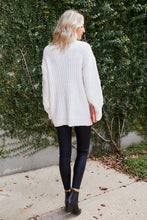 Load image into Gallery viewer, Lacey Cable Knit Tunic Sweater