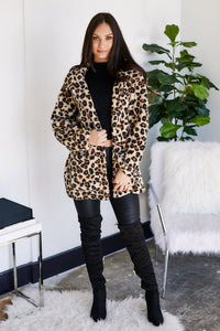 Z Supply Leopard Sherpa Coat