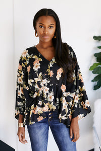 Adley Floral Print Blouse