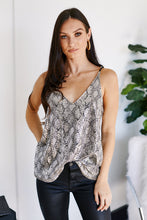 Load image into Gallery viewer, Sicily Snake Print Top