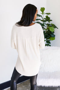 Z Supply Waffle Thermal Tunic Top