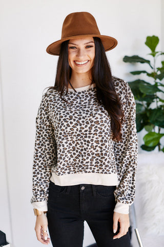 Z Supply Multi Leopard Pullover