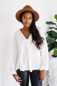 Monett Long Sleeve V-Neck Blouse