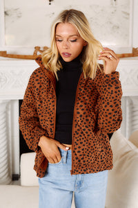 Celia Animal Print Puffer Jacket