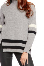 Load image into Gallery viewer, Thalia Oversized Stripe Detail Turtleneck