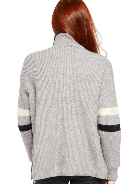 fab'rik - Thalia Oversized Stripe Detail Turtleneck image thumbnail
