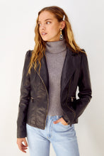 Load image into Gallery viewer, Zoie Faux Leather Moto Jacket