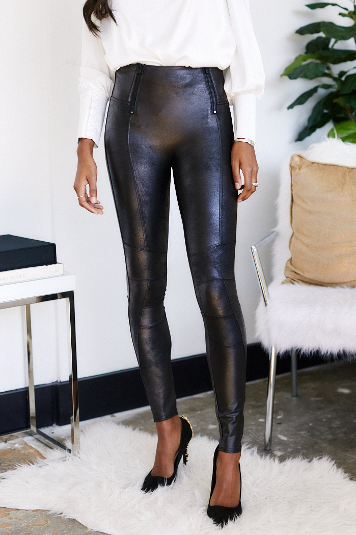 fab'rik - Spanx Zip Detail Faux Leather Legging ProductImage-13541789859898