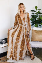 Load image into Gallery viewer, Amara Long Sleeve Snake Maxi