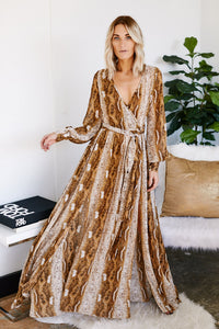 Amara Long Sleeve Snake Maxi