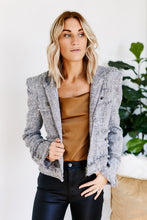 Load image into Gallery viewer, Axley Power Shoulder Tweed Jacket